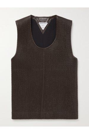 BOTTEGA VENETA Homem T-shirts & Manga Curta - Slim-Fit Woven Leather Tank Top