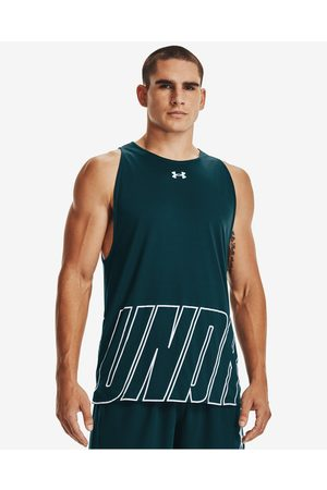 Under Armour Baseline Reversible Top Green Grey