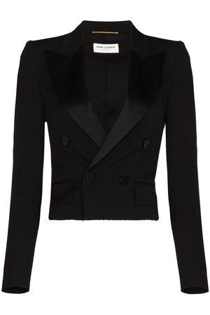 Saint Laurent Button-front tuxedo blazer