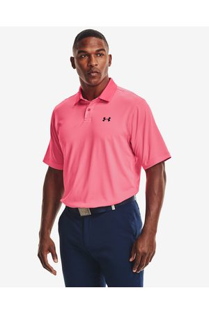 Under Armour Performance Stripe Polo T-shirt Pink
