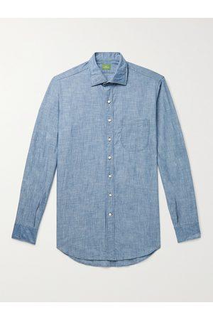 Sid Mashburn Homem Casual - Slim-Fit Cotton-Chambray Shirt