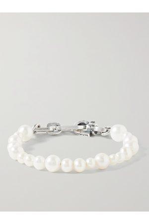 M.COHEN Homem Pulseiras - Sterling Pearl Bracelet