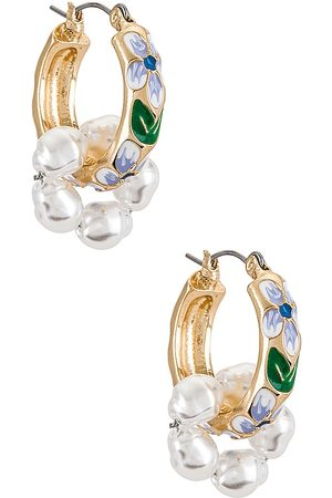 petit moments Baroque Earrings in - Metallic Gold, . Size all.
