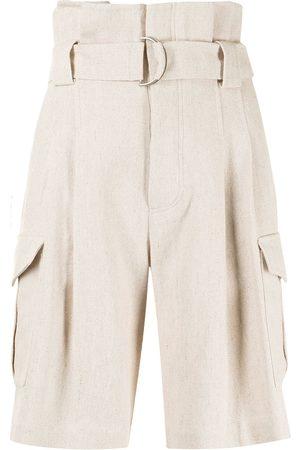 GOEN.J Senhora Bermudas - Belted paperbag-waist bermuda shorts