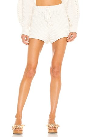 Shona Joy Willow Drawstring Short in - White. Size L (also in XS, S, M).