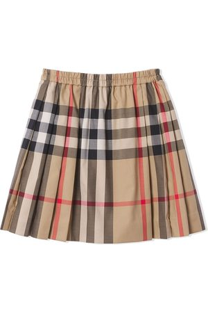 Burberry Check-pattern pleated skirt