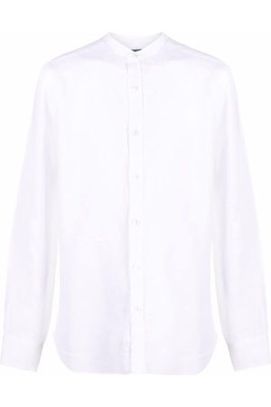 BARBA Band collar linen shirt
