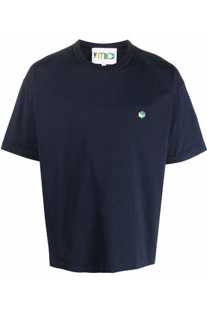 YMC Logo-print cotton T-shirt