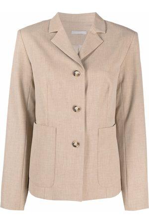 12 STOREEZ Stretch-fit single-breasted blazer