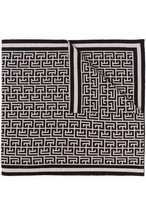 Balmain Homem Cachecóis & Echarpes - Monogram pattern scarf