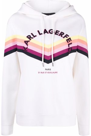 Karl Lagerfeld Stripe Tape drawstring hoodie
