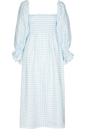 Sleeper Atlanta gingham-check midi dress