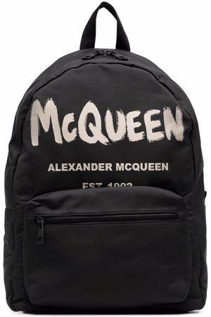 Alexander McQueen Homem Mochilas - Graffiti Metropolitan printed backpack