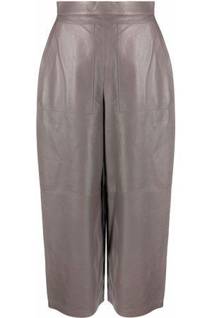 12 STOREEZ Wide-leg leather trousers