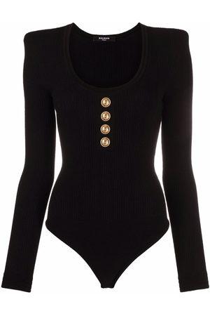Balmain Knitted long-sleeve bodysuit
