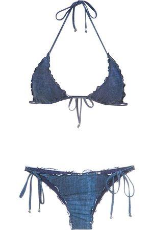 AMIR SLAMA Senhora Bikinis - Denim bikini set