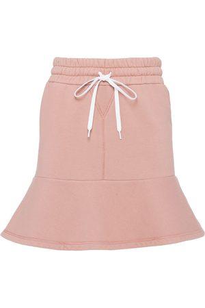 Miu Miu Logo-lettering mini skirt
