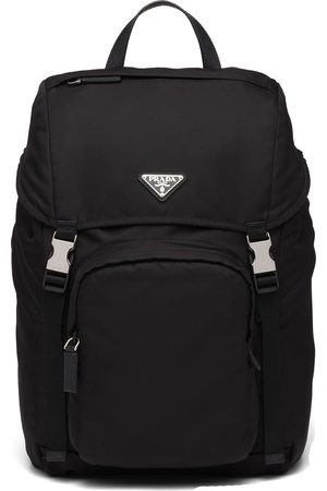Prada Logo-plaque multi-pocket backpack