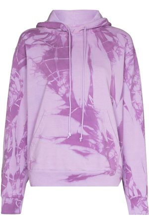 COME BACK AS A FLOWER Senhora Tops de Cavas - Tie-dye cotton hoodie