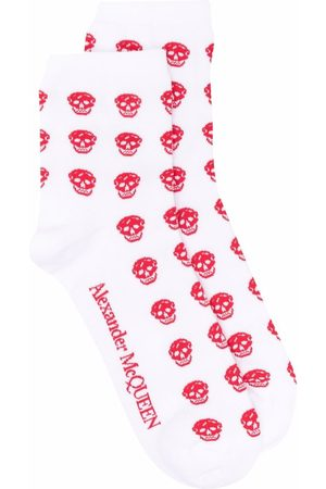 Alexander McQueen Senhora Slips & Saiotes - Skull jacquard socks