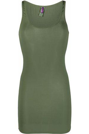 MAISON CLOSE Senhora Vestidos de Cava - Ribbed sleeveless dress