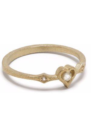 Feidt Paris 9kt yellow Pace e Amore sapphire heart ring