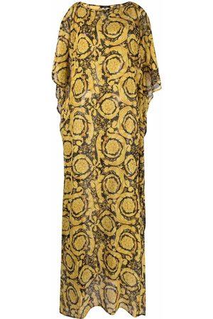 VERSACE Baroque-print silk kaftan