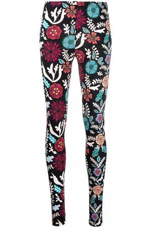 La DoubleJ Floral-print stretch leggings