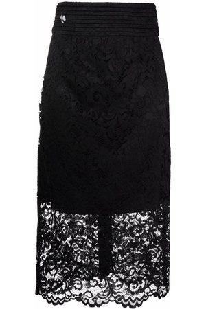 Philipp Plein High-waisted lace skirt