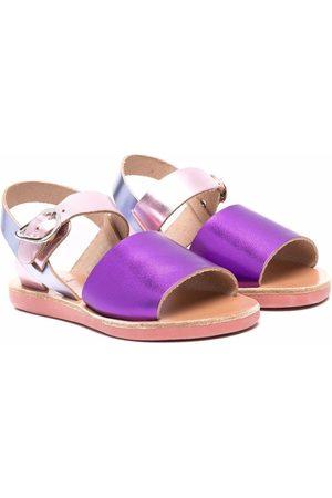 Ancient Greek Sandals Little Kaliroi metallic sandals