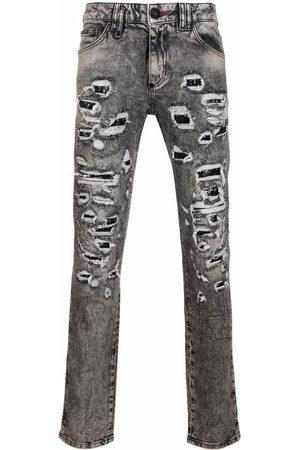 Philipp Plein Distressed slim-cut jeans