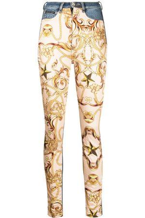 Philipp Plein Baroque-print skinny jeans