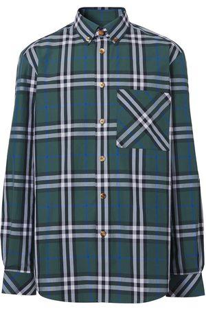 Burberry Check-print button-down shirt
