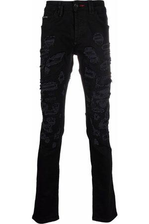Philipp Plein Super-straight destroyed jeans