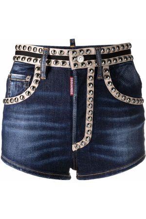 Dsquared2 Stud-embellished denim shorts