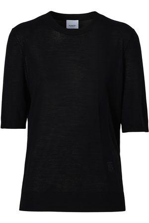 Burberry Monogram-motif wool-blend T-shirt