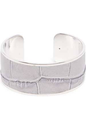 Pinetti Crocodile-embossed napkin ring