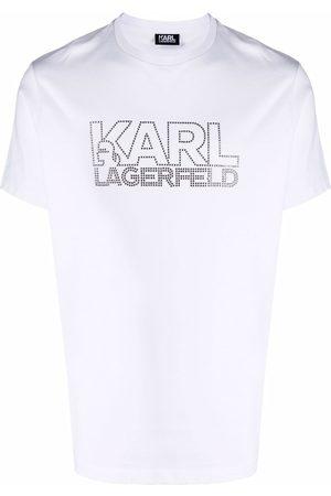 Karl Lagerfeld Homem T-shirts & Manga Curta - Logo print crew-neck T-shirt