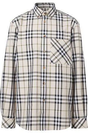 Burberry Button-down signature check shirt