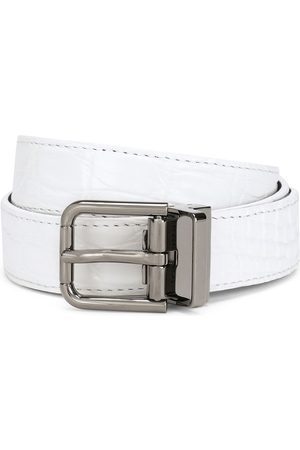 Dolce & Gabbana Square-buckle leather belt