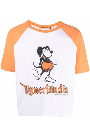 Vyner Articles Mickey-print colour-block T-shirt
