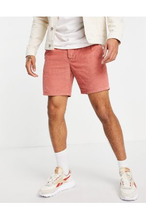 ASOS Cigarette shorts in cord-Red