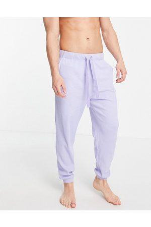 ASOS Oversized lounge ribbed joggers in blue