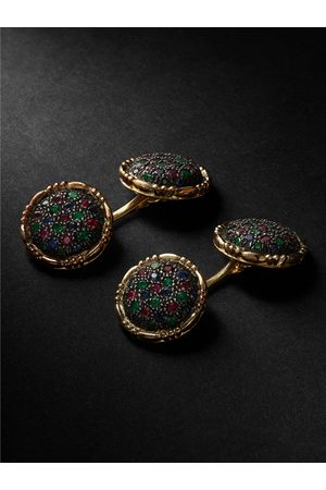 BUCCELLATI Homem Botões de Punho - Premium Gentlemen and Blackened Silver Multi-Stone Cufflinks