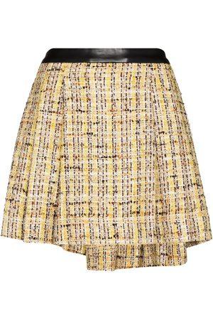 Natasha Zinko Knife-pleat tweed miniskirt