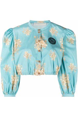 ULYANA SERGEENKO Floral-print button-up blouse
