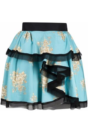 ULYANA SERGEENKO Asymmetric floral-print skirt