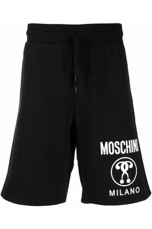 Moschino Double Question Mark logo-print Bermuda shorts