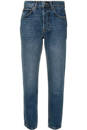 ANINE BING Senhora Retos - Sonya high-rise straight jeans