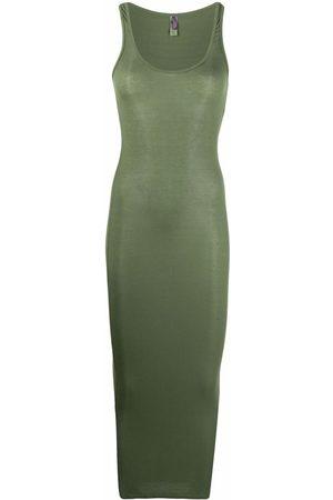 MAISON CLOSE Rib-knit sleeveless dress